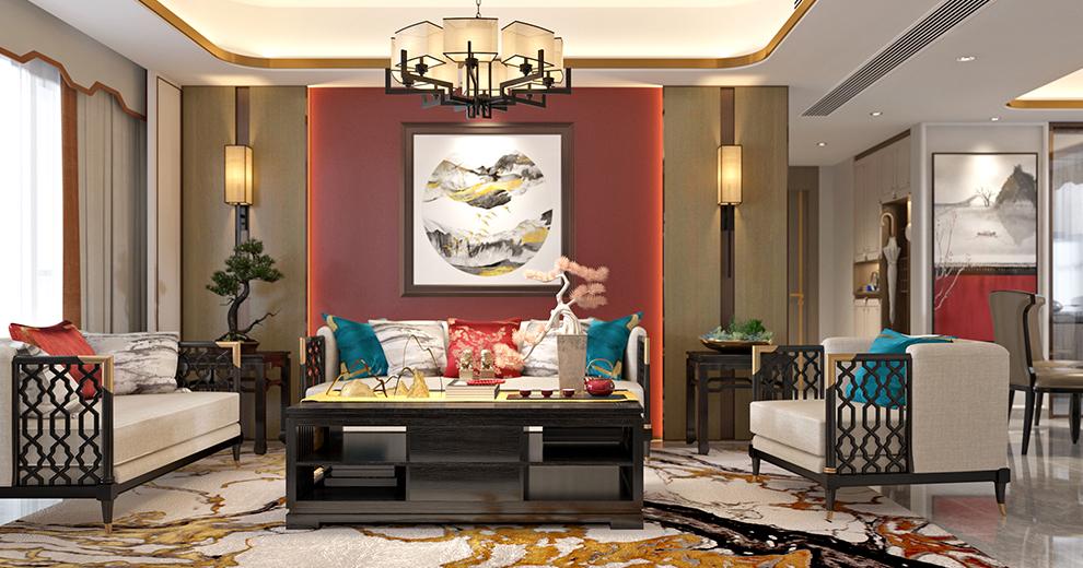 卡百利艺术涂料新中式风格